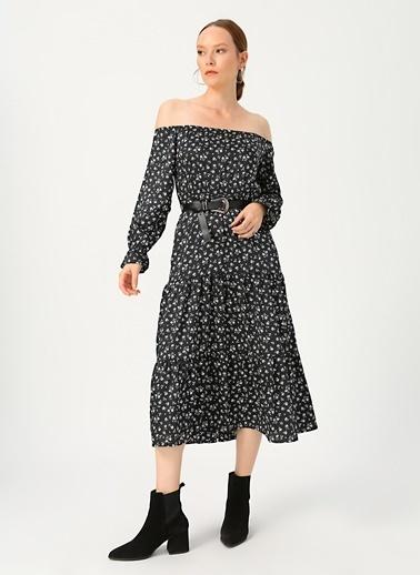 Quzu Quzu 20K31023 Siyah Kadın Elbise Siyah